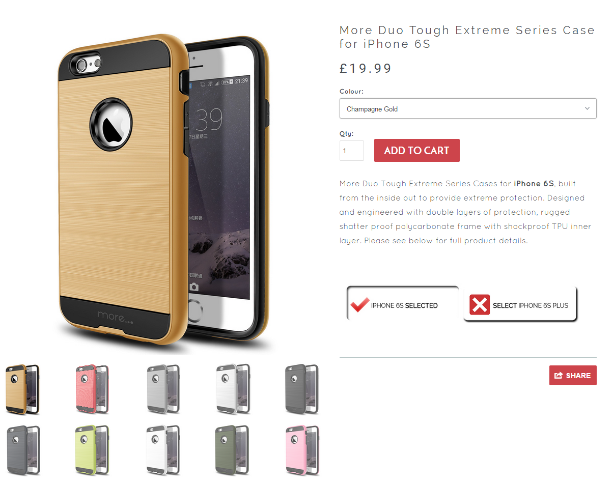 more duo tough extreme iphone 6s case pre order by more UK