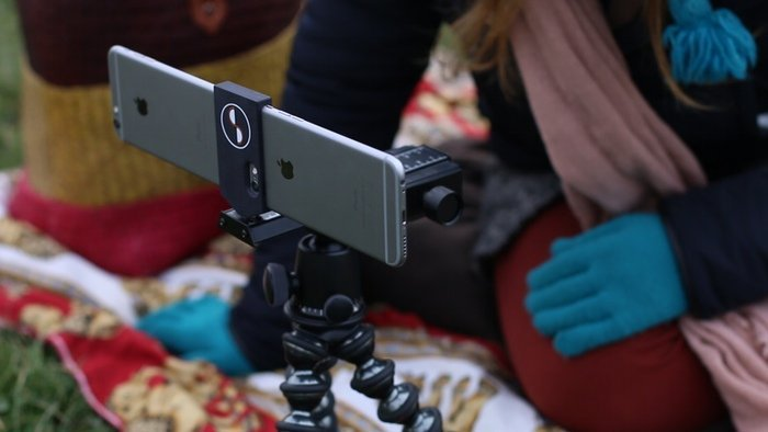 Stesco for iPhone 5/5s and 6 allows you to capture real 3D photos and videos